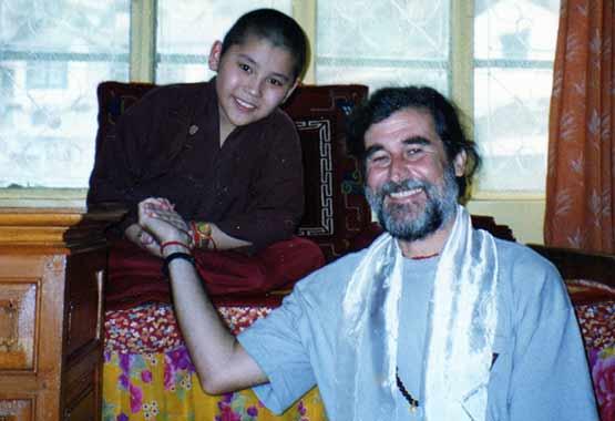 Ling Rimpoche con Purvesh