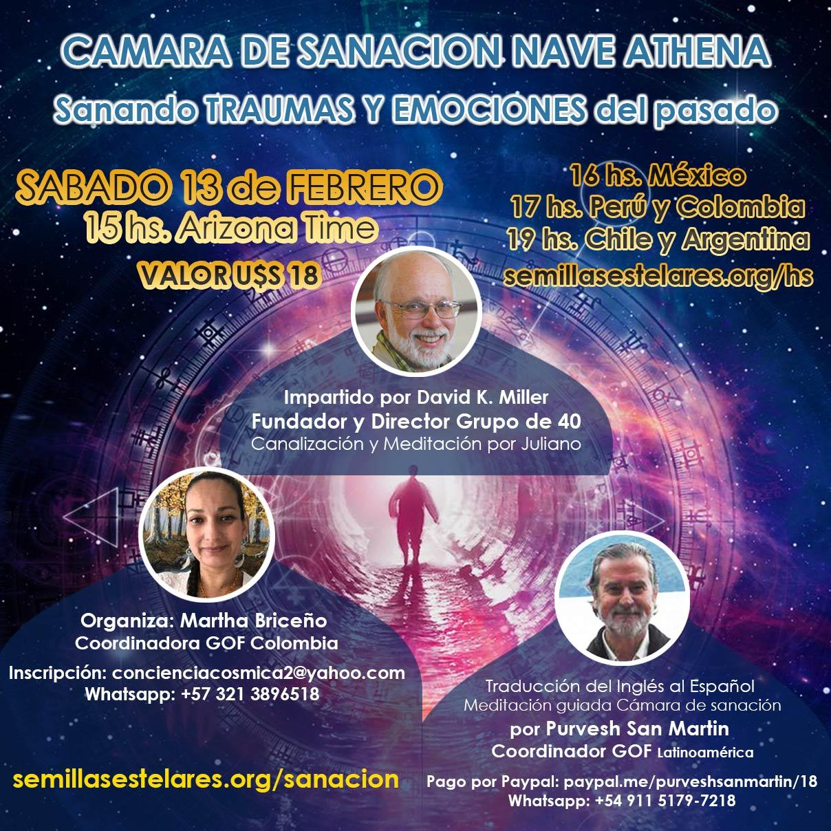 """TALLER INTERNACIONAL """"CAMARA DE SANACION NAVE ATHENA"""""""